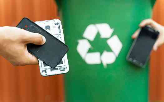 What can e-waste be recycled into